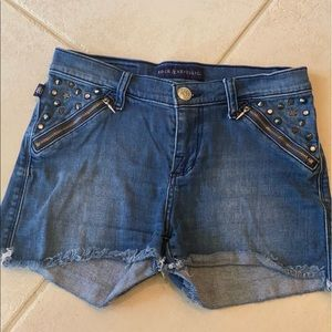 Rock & Republic Pixie Spiked Studded Jean Shorts 4